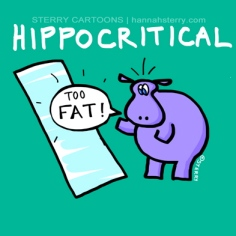 Hippocritical by Sterry Cartoons (Hannah Sterry)