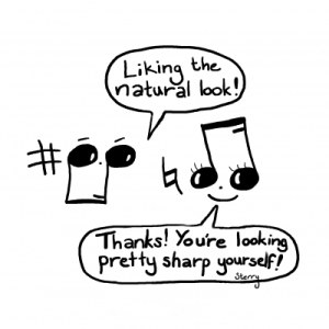 Musical Compliments - Funny Music Cartoon by Hannah Sterry