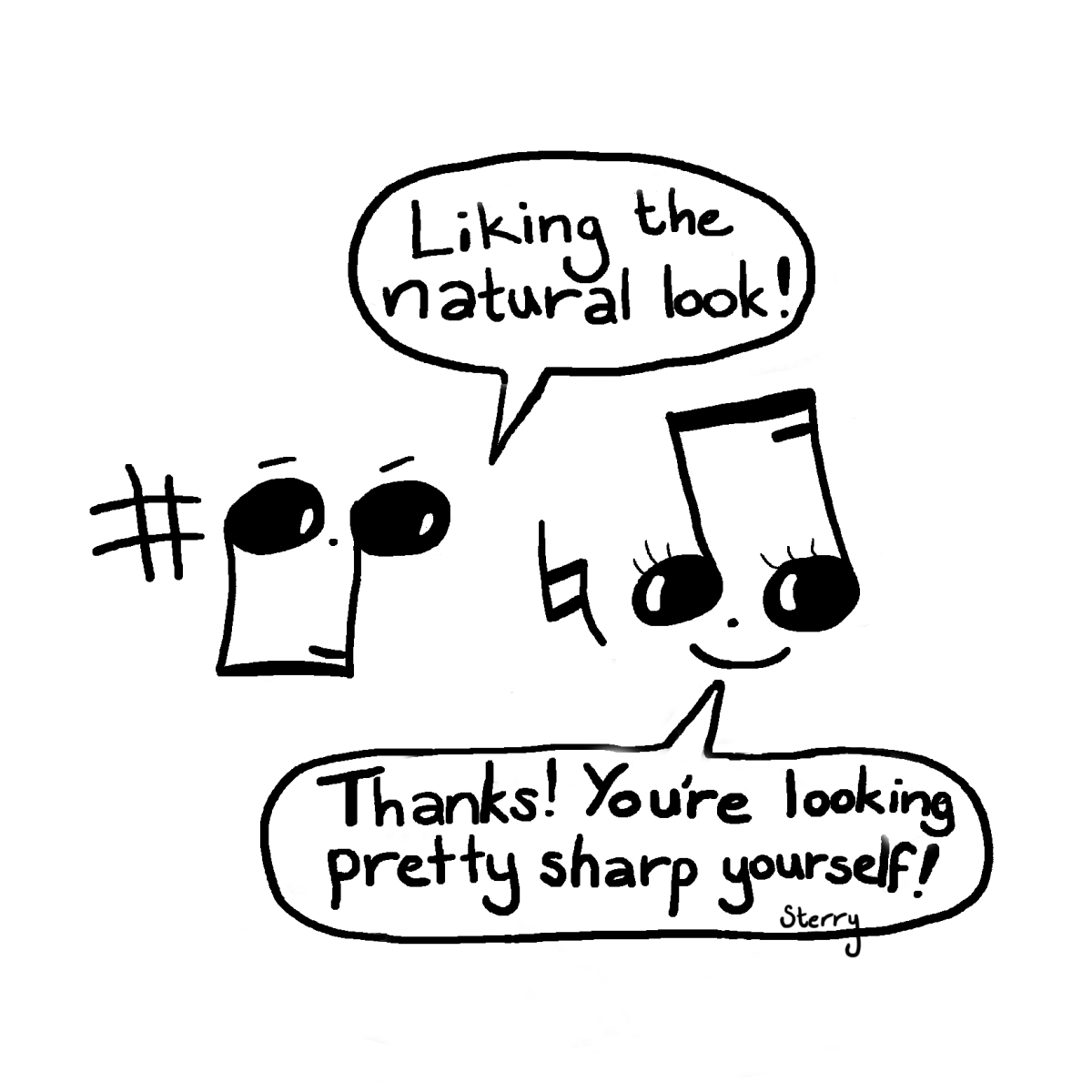 Musical Compliments Funny Music Cartoon By Hannah Sterry