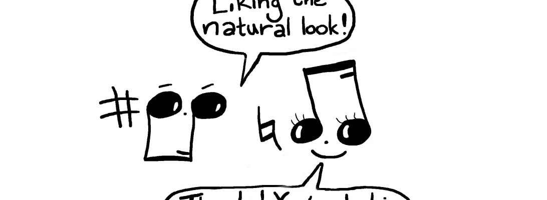 Musical Compliments: A music cartoon by Hannah Sterry of Sterry Cartoons.