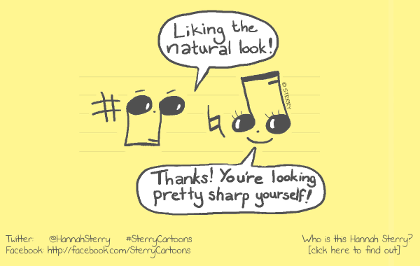 Musical Compliments - Cartoon by Hannah Sterry