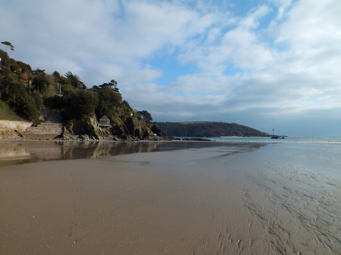 Went for a walk at North Sands beach (in Salcombe) at low tide and managed to get a few good pictures of the beach and the castle! It was really cold, but the photos seemed to come out fairly well!