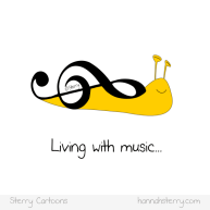 The Snail Clef - Living with music... Cartoon by Hannah Sterry.