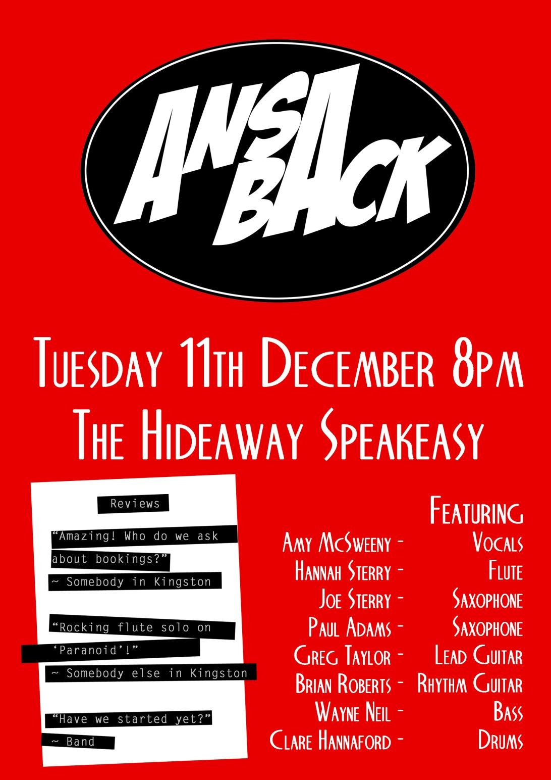 AnsaBack Poster