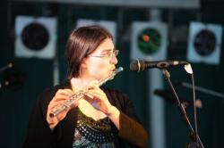 Hope for Howard Event on Kingsbridge Bandstand. Hannah Sterry on flute. Image copyright 2013 Mark L Jones.