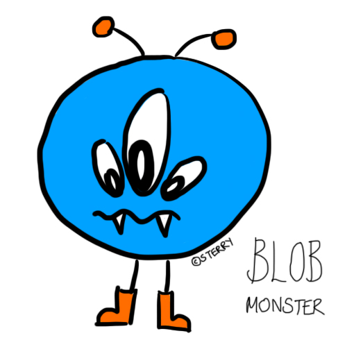 Blob Monster Doodle by Hannah Sterry