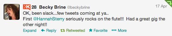Becky Brine Tweet