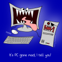 """It's PC gone mad, I tell you!"" by Sterry Cartoons. Cartoon requested by Bilgeboy Bob."
