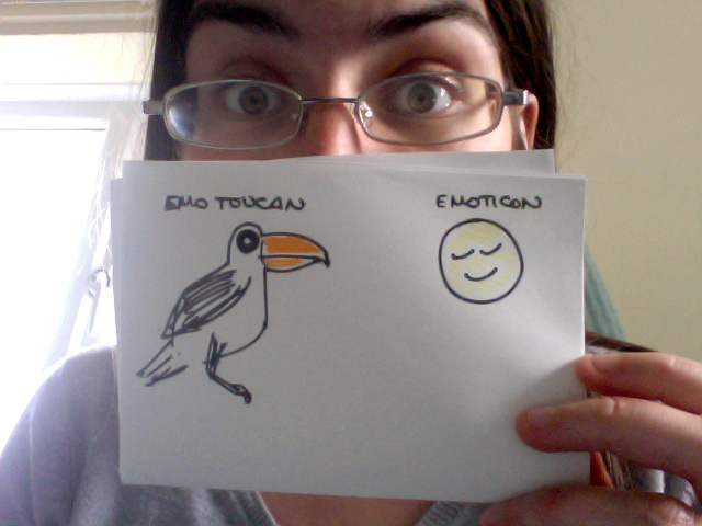 Emo Toucan Emoticon! Fathers' Day Cartoon from Dad.