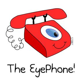 The Eye Phone iphone by Hannah Sterry Cartoons.