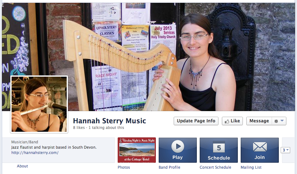 New facebook page exclusively for my music.
