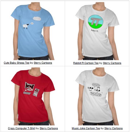 Sterry Cartoons T-Shirt Designs