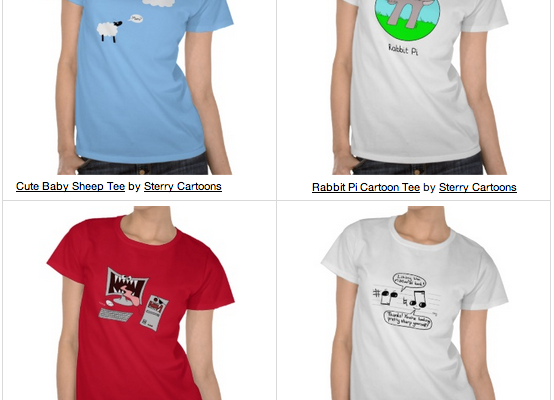 Sterry Cartoons T-Shirt Designs