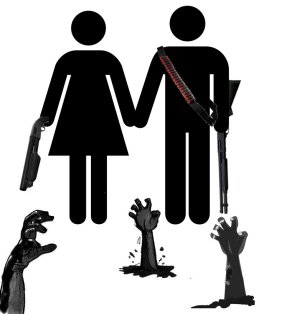 """Zombie cartoon clipart: """"Our Love Will Survive"""" by ~l-l-l-l-l-l-l-l-l-l"""