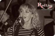 Becky Brine fronting the band with her amazing vocals! Hamer & Isaacs gypsy swing band and special guests at The Red Lion Newquay in Cornwall.