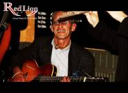 Julian Isaacs performing with Hamer & Isaacs gypsy swing band and special guests at The Red Lion Newquay in Cornwall.