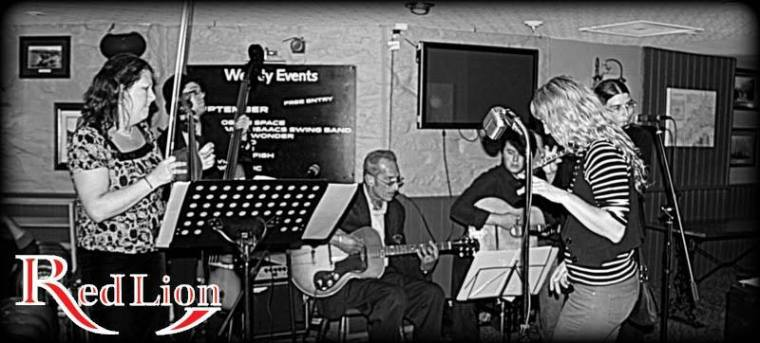 Hamer & Isaacs gypsy swing band and special guests at The Red Lion Newquay in Cornwall.