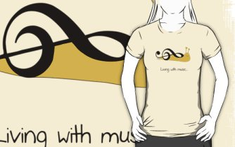 Snail Clef Tee by Sterry Cartoons. Jokes for music teachers and students by Sterry Cartoons.