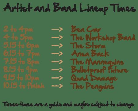 Malborough Music Monster Mash Line Up 2014