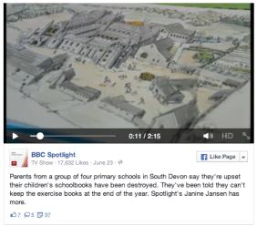 BBC School Books Destroyed