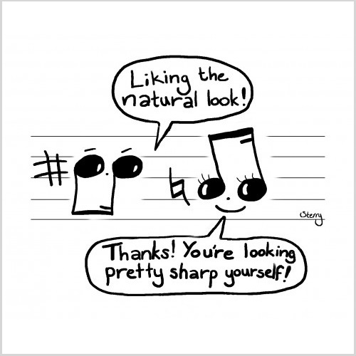 Musical Compliments by Hannah Sterry Cartoons