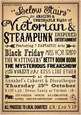 Below Stairs - Steampunk Charity Event in Plymouth
