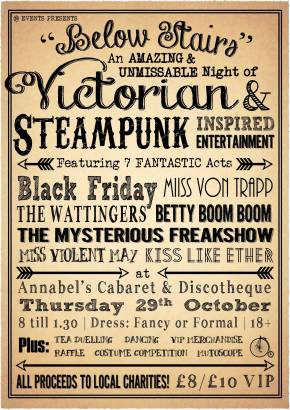 Below Stairs: Steampunk Charity Event happening in Plymouth!